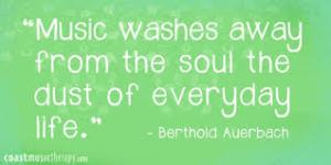 berthold auerbach, music, music, quote, music quote