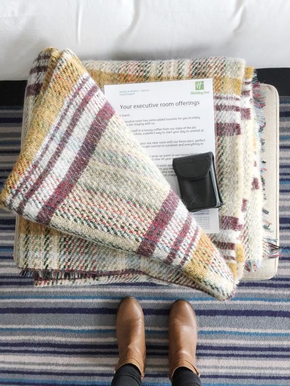 blankets, binoculars, cosy